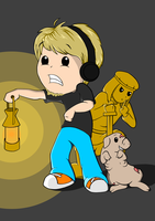 Pewdie, Piggeh and Stephano by natfink93