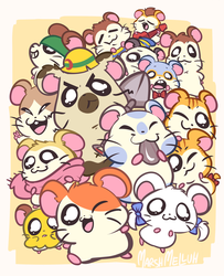 Tiny Hamsters by Melluh