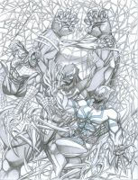 Spiderman vs Symbiotes by PerfectCirkel
