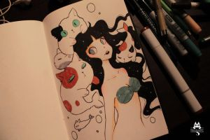 Inktober  2015 Day 11 by Paulinaapc