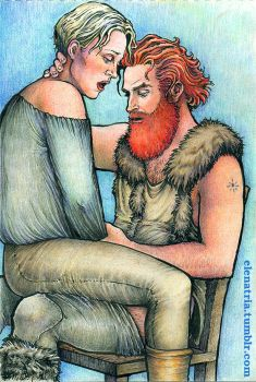 Tormund and Brienne: Fifty shades of ginger by ElenaTria