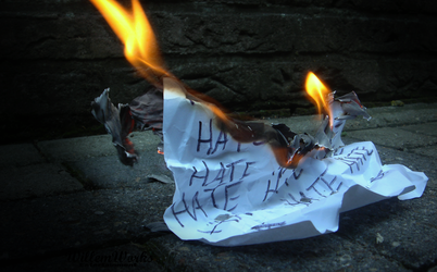 Burning the Hate by WillemWorks