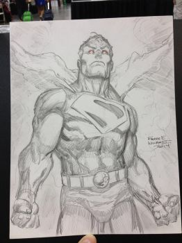 Superman DC Comics WIP 3 (Finished) by FreddieEWilliamsii