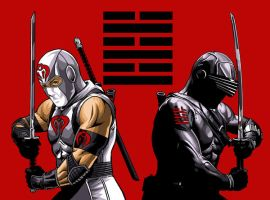 SNAKE EYES and STORM SHADOW by MalevolentNate