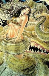Cavewoman tentacles by megasonicmanlover