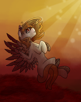 basking in the sun (art trade) by doomsday120
