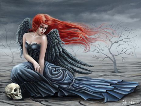 The angel of loneliness by Araniart