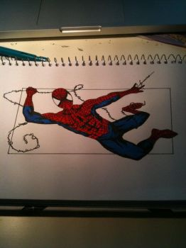 Spiderman COLOURED by Madmoisielle
