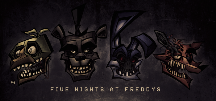 FNAF HEADS by DISTORTEDMACHINE