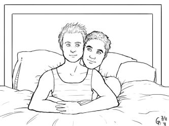 Klaine cuddles by Maitia