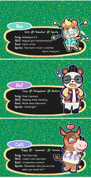 ACNL Villagersonas (v2) by Beedalee-Art
