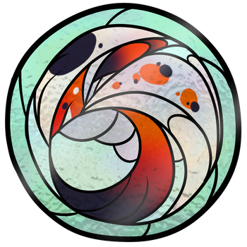 Owners Art Challenge - Stained glass by KitsuneHebi