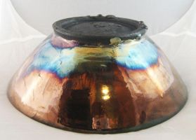 Raku Metal + Gold bottom view by JesIdres