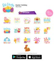Easter Holiday Chat Stickers by MissChatZ