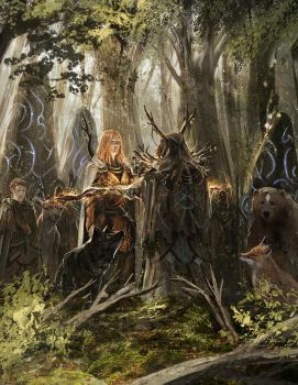 Chroniques oubliees - Druids meeting by BGK-Bengiskhan