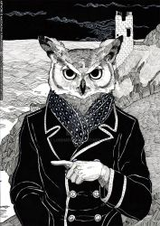 The Cryptids - Owl Man by lordmegi