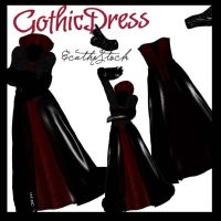 Gothic dress by Ecathe