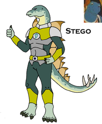 Dinosaucer: Stego by HewyToonmore