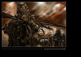 not a soldier by sideshow-pin