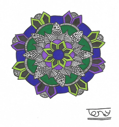 Colored Mandala NO.11 by smileyface001