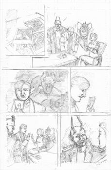 The Devil and The Detective page 6 Rough Pencils by JJ422
