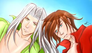 Genesis and Sephiroth by chinensisXIII