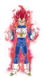 Vegeta Super Saiyan God by BardockSonic