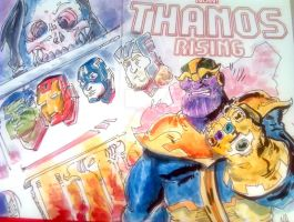 Thanos Fireplace Sketchcover by mannycartoon