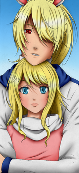 Coloring Request - Alice and Alex by Iduna-Haya