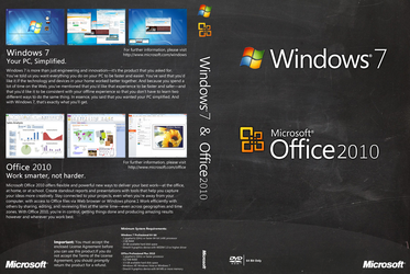 Windows 7 Office 2010 Dual Generic DVD Cover by macleodmac