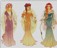 WIP-Nouveau Princess Patterns (Hannah-Alexander)1 by pinkythepink