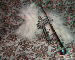 Cat with trumpet by relu65