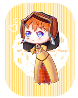[Commission] Catherine of Aragon Chibi by Kawaii-Says-Meow