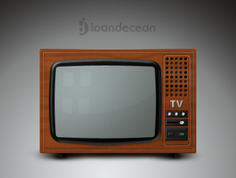 old tv icon - free psd by nelutuinfo