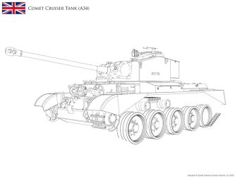 :WIP: A34 Comet Cruiser Tank - Lineart v2.13 by KodyYoung