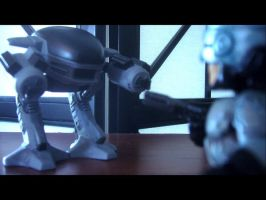 Robocop vs. ED-209 by burntheashes0
