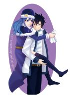 Piggyback (Fairy Tail Fanart GrayXJuvia) by ShelneeLynn
