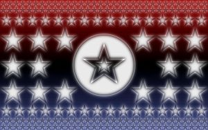 Red, White and Blue Stars by LordShenlong