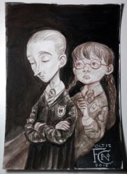 Draco and Myrtle by feliciacano