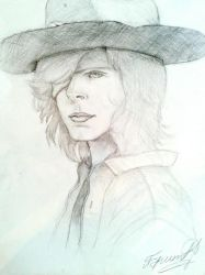 Carl Grimes (Art) The Walking Dead by Danyus