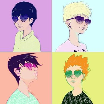 Heart-Shaped Sunglasses by teaorchid