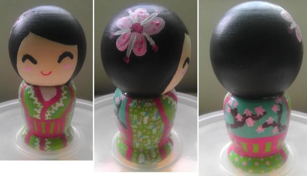 Spring Kokeshi Doll by Froggy-Spaztastic