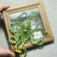 Blue Ringed Octopus Picture Frame Pond by Bon-AppetEats