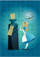 Alice and Cheshire Cat by Coolgraphic