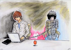 Death Note Fanart by RavenInAGoldenCage