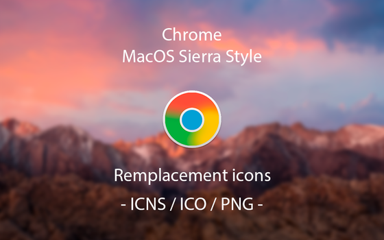 Google Chrome Icon (MacOs Sierra Style) by LookTheLife