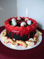 Horror cake by see-through-silence