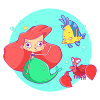 the little mermaid by lost-angel-less