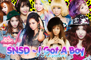 SNSD - I Got A Boy Renders by RadientGlow