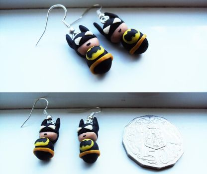Batman the Dark Knight Earrings by CoolArt999